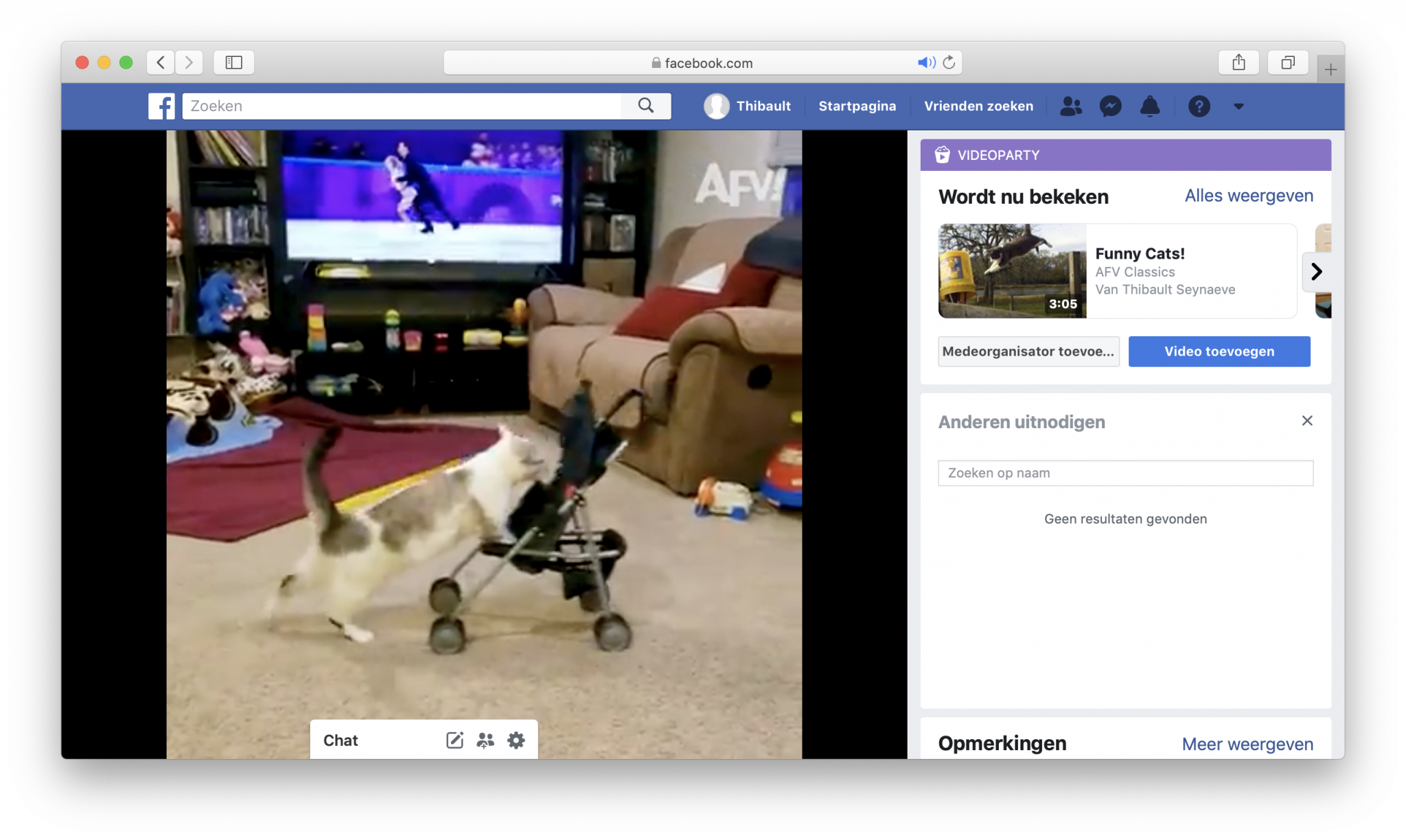 facebook videoparty