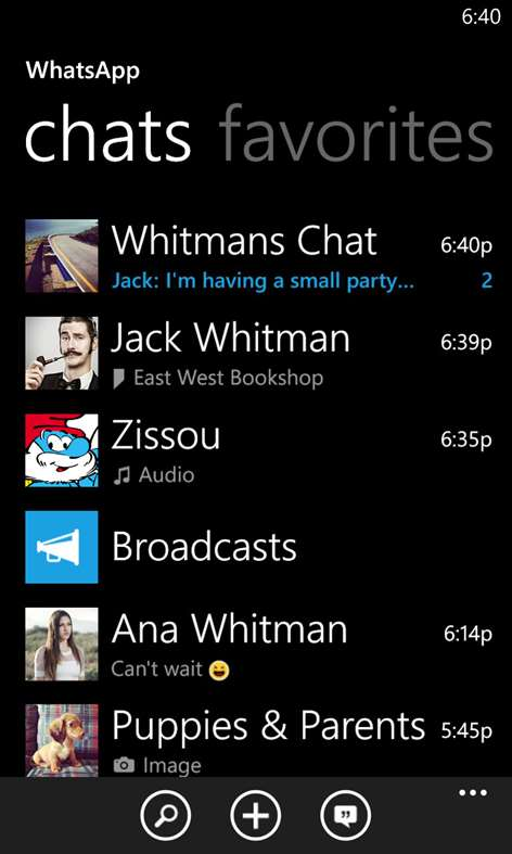 WhatsApp op Windows Mobile - 1