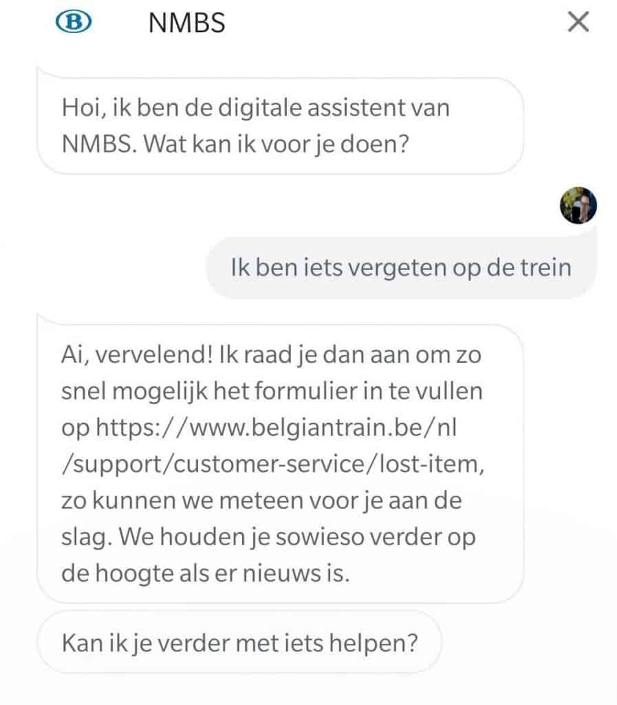 Google Assistant NMBS