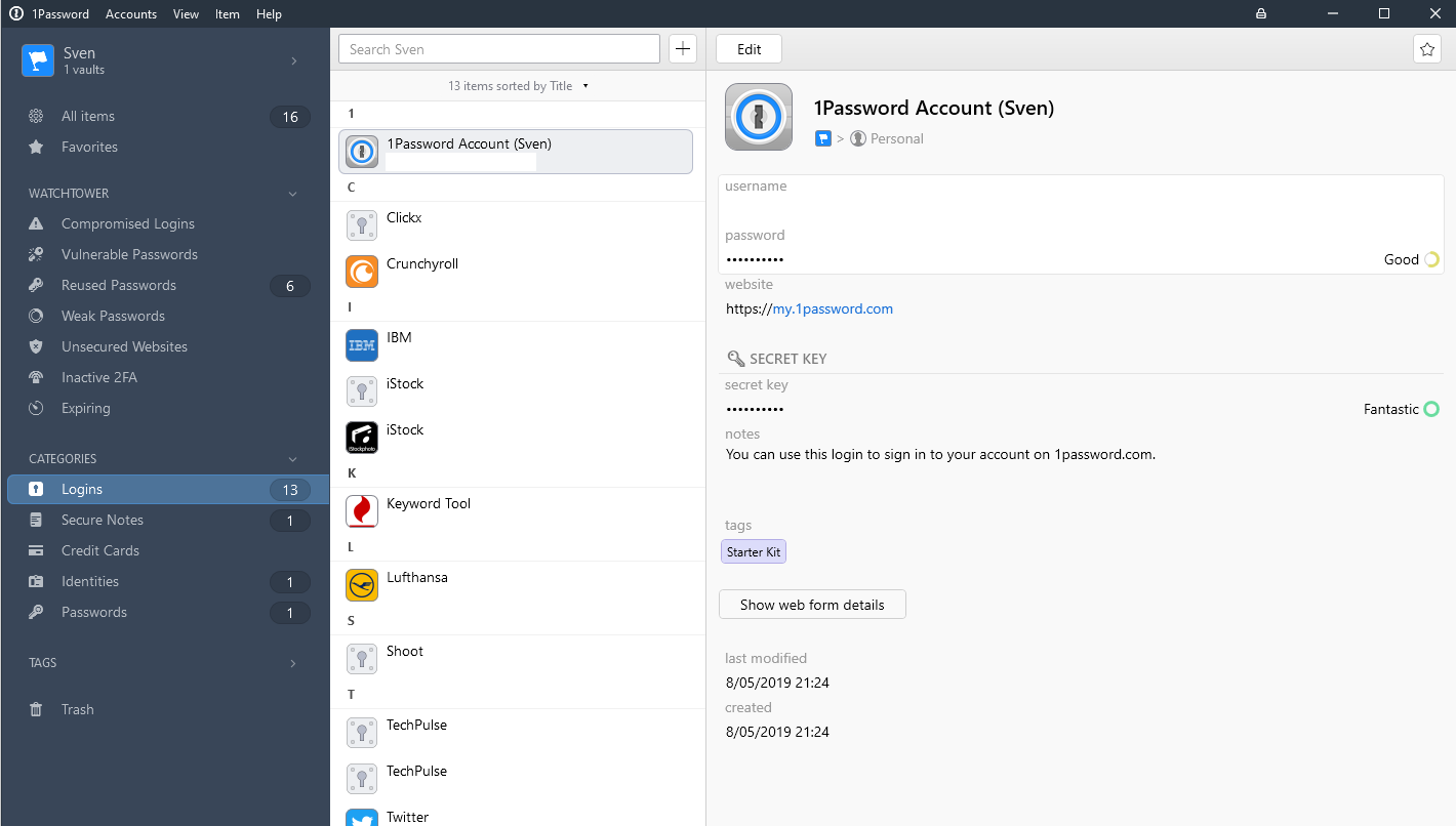 1Password wachtwoord manager